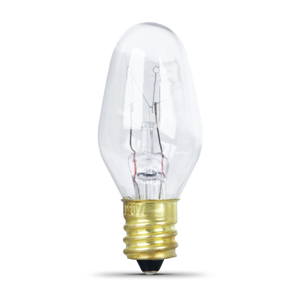 10-Watt Soft White (2700K) C7 Candelabra Dimmable Incandescent Appliance Light Bulb (24-Pack)