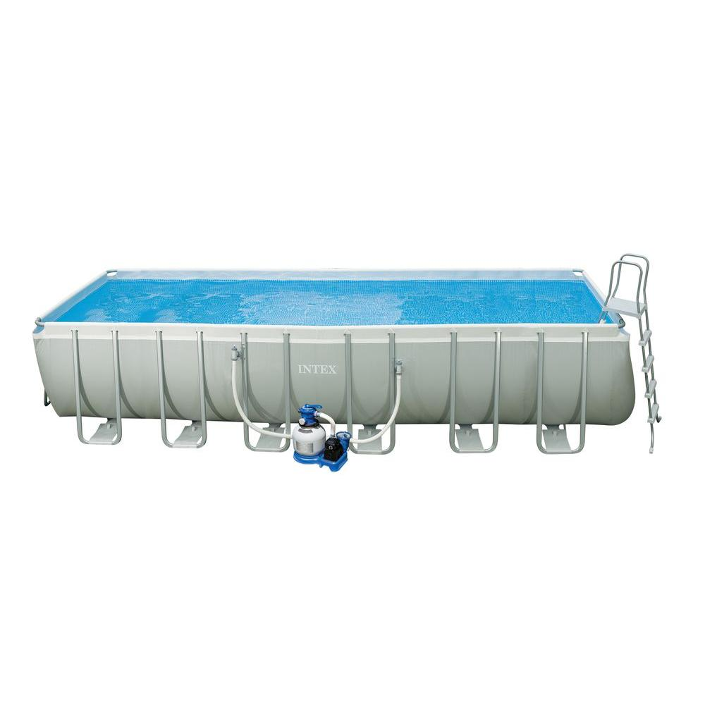 Intex 24 ft. x 12 ft. x 52 in. Rectangular Ultra Frame Pool Set