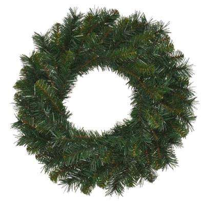 30 in. Unlit Multi Pine Artificial Wreath with 180 Tips