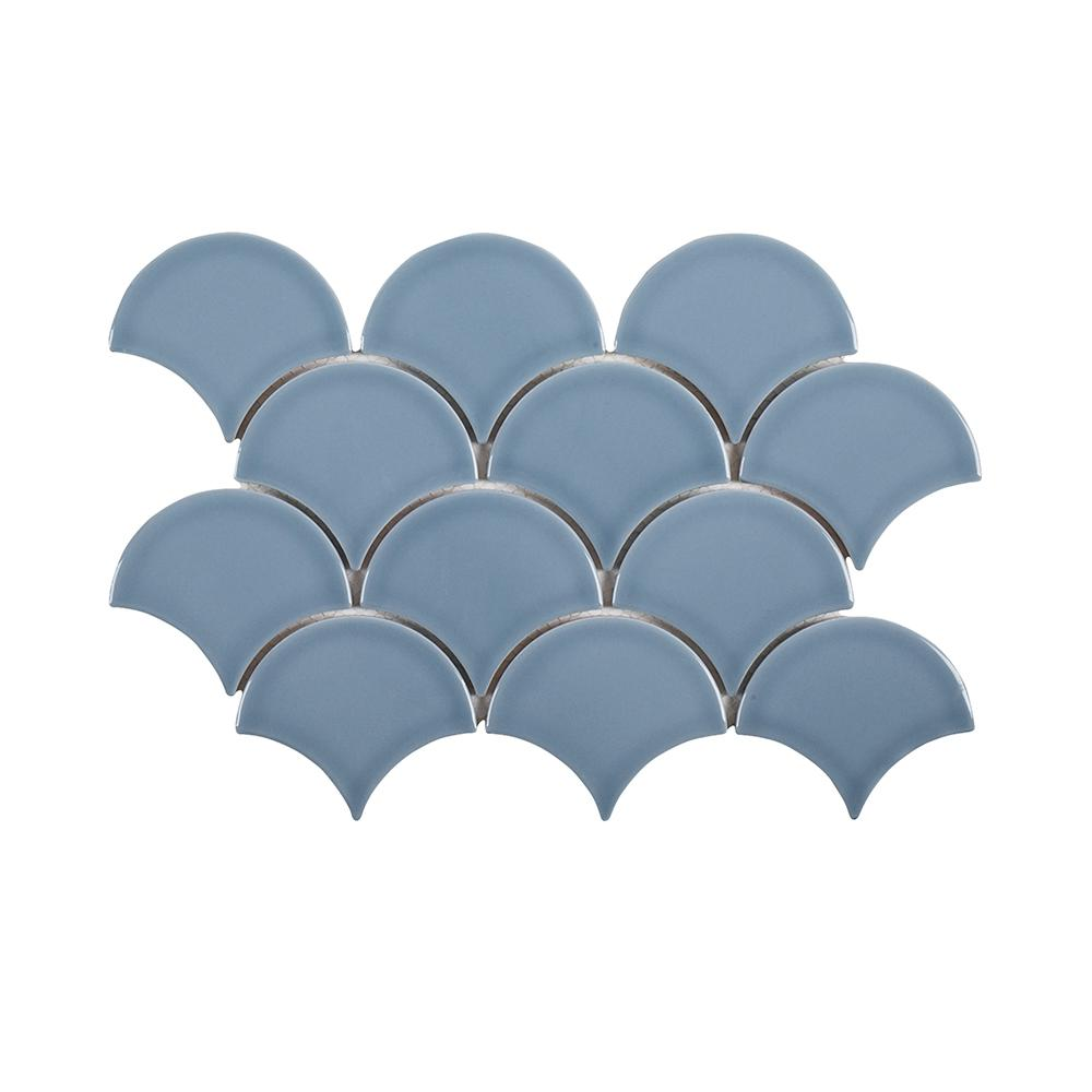 Beverly Blue Fan 8.75 in. x 13 in. x 8 mm