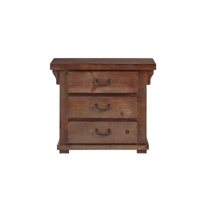 Forrester 3 Drawer Tobacco Nightstand