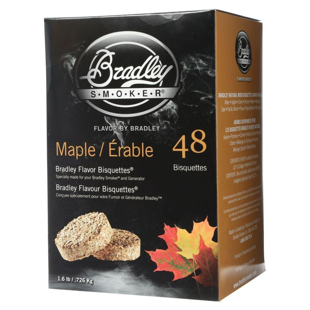 Bradley Smoker Maple Flavor Bisquettes (48-Pack)-BTMP48 - The Home Depot
