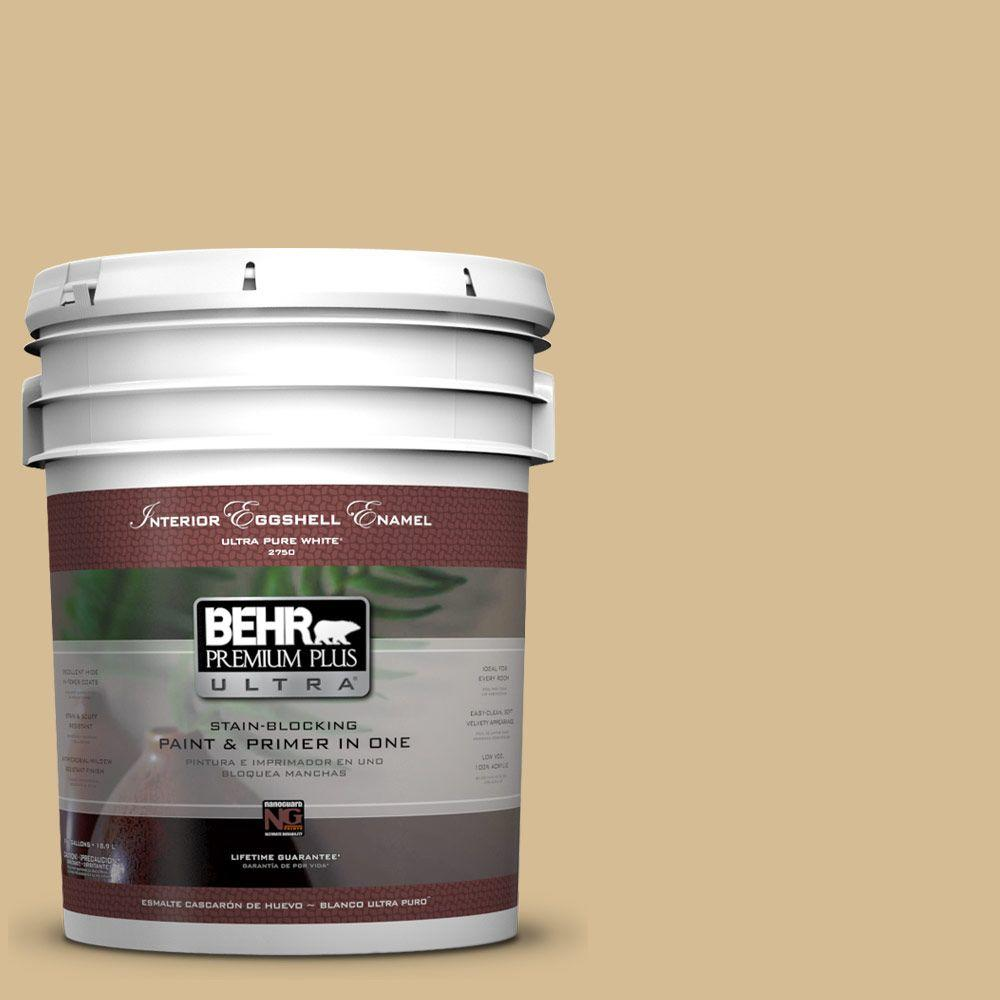 BEHR Premium Plus Ultra 5-gal. #330F-4 Pebble Path Eggshell Enamel Interior Paint