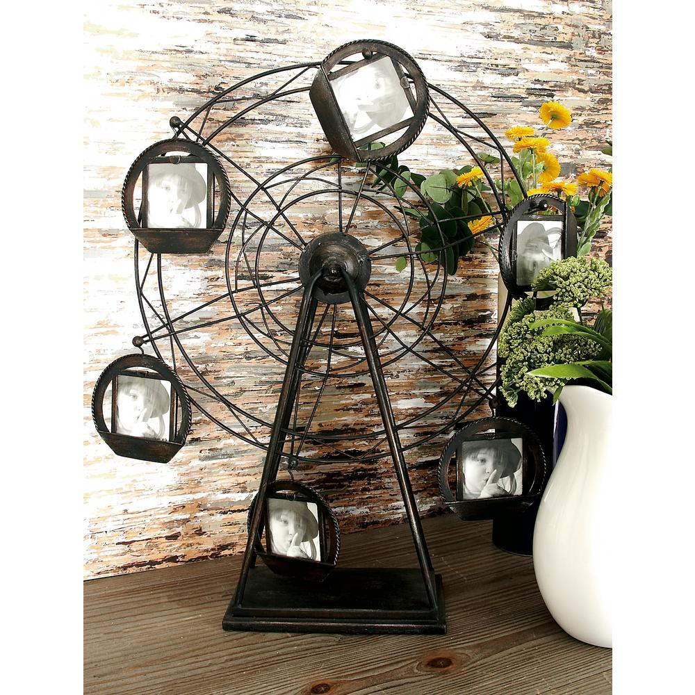 6-Opening Vintage Ferris Wheel Photo Frame-51839 - The Home Depot