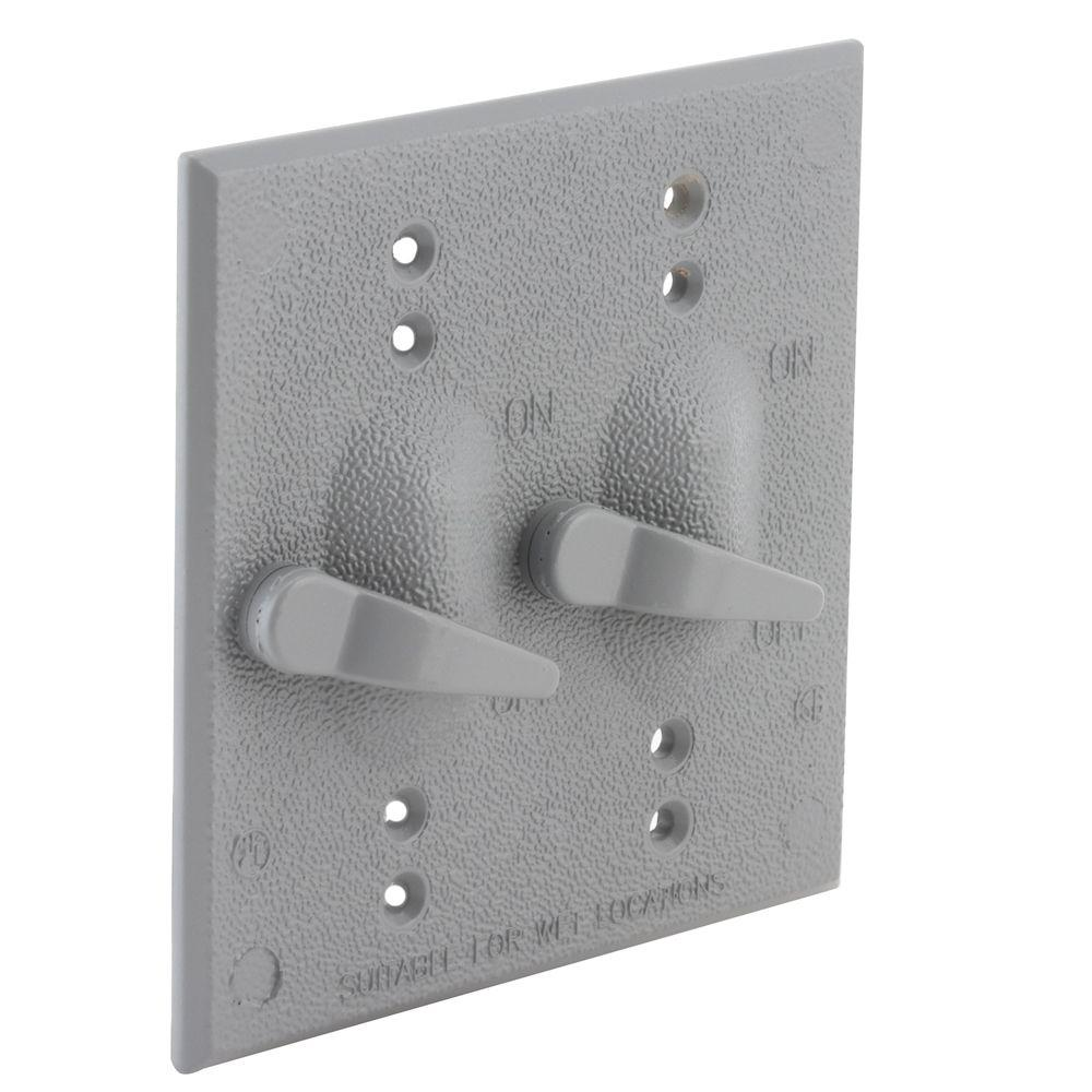 2 Gang Weatherproof Toggle Switch Cover