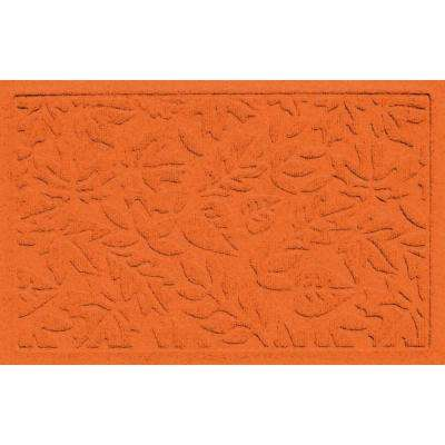 Aqua Shield Fall Day Orange 17.5 in. x 26.5 in. Door Mat