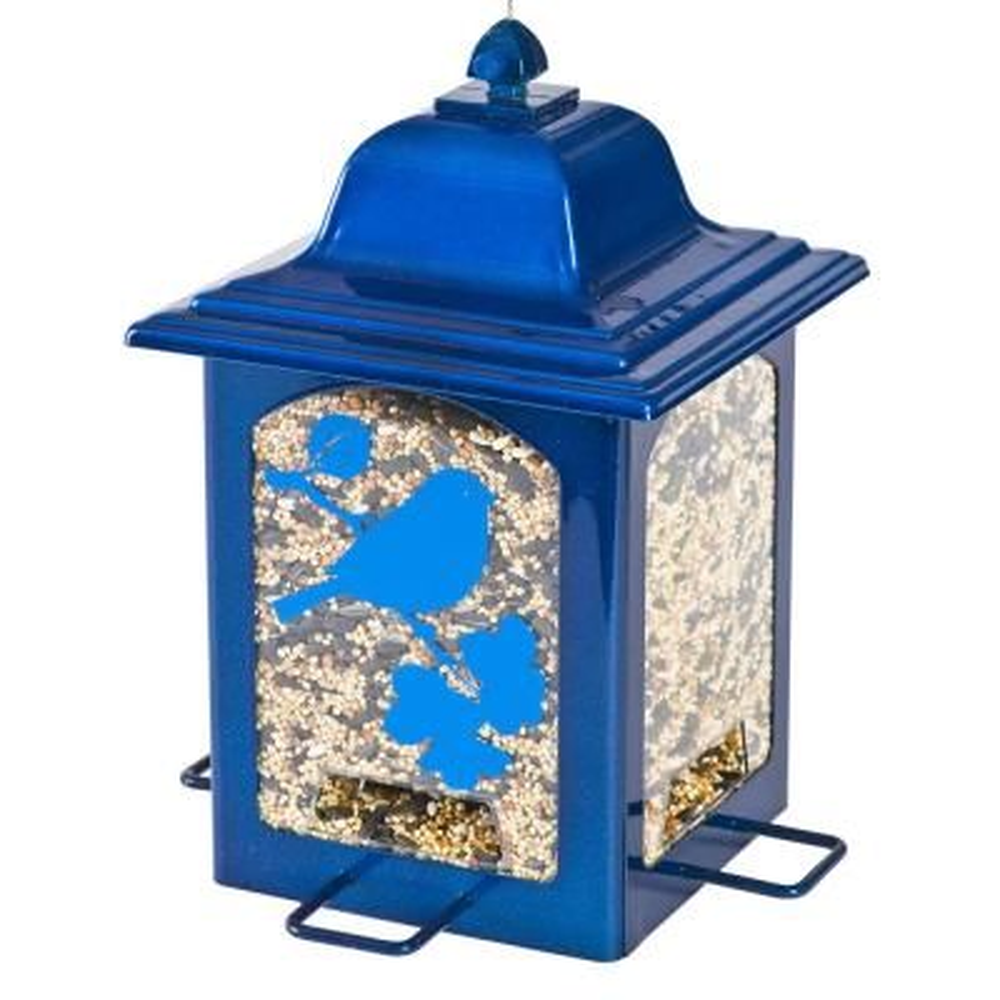 Blue Sparkle Lantern Hanging Bird Feeder - 3 lb. Capacity