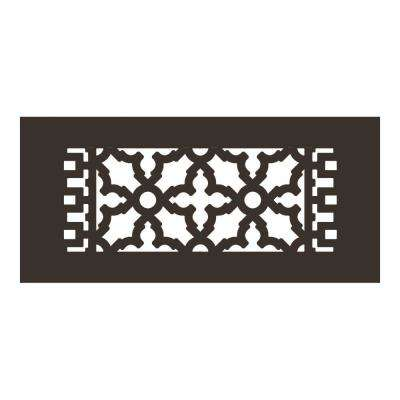 Scroll Series 10 in. x 4 in. Aluminum Grille, Oil Rubbed Bronze without Mounting Holes