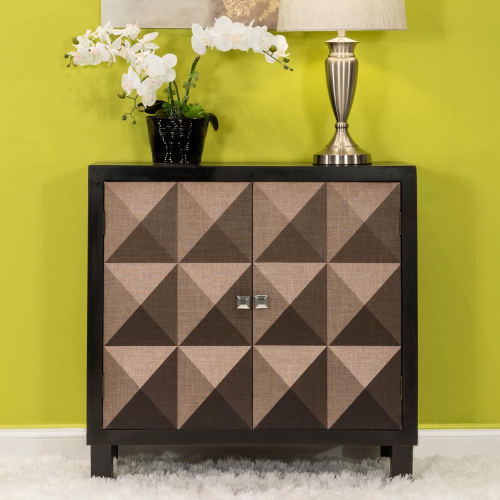 Home Source justin Modern Brown Wooden 2 Door Cabinet