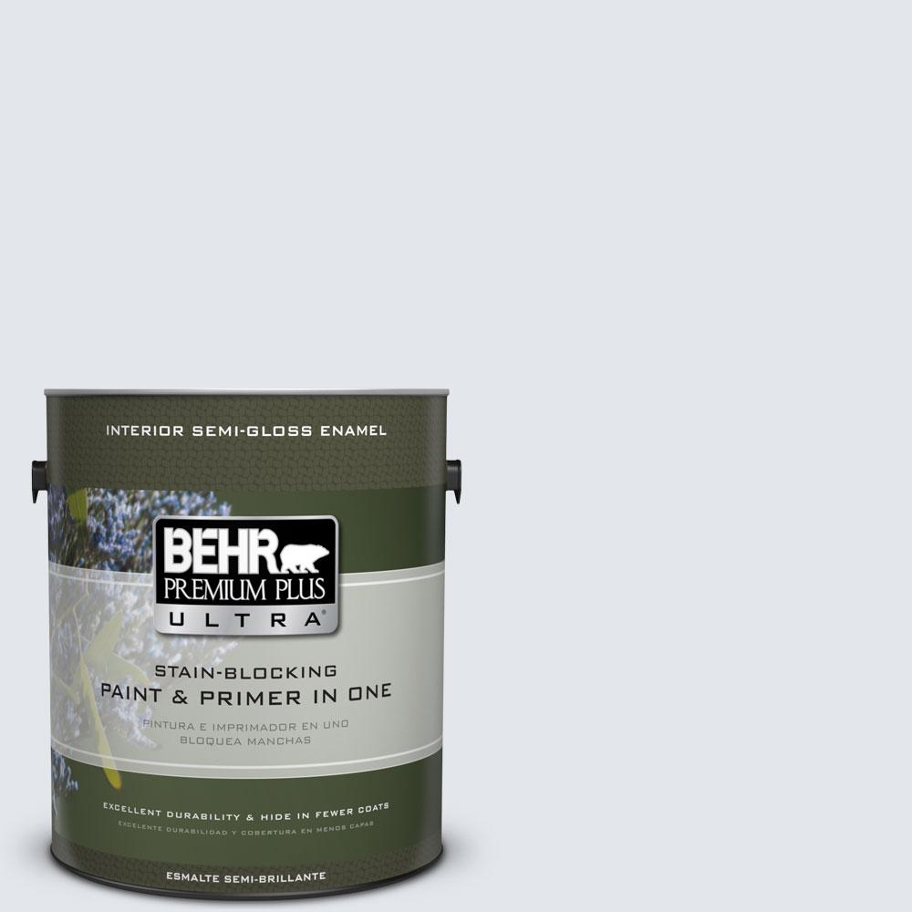 BEHR Premium Plus Ultra 1-gal. #610E-2 Winter Day Semi-Gloss Enamel Interior Paint