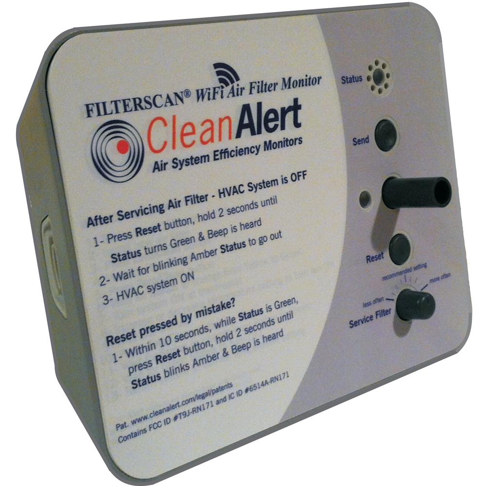 FILTERSCAN Smart Air Filter Monitor, 24-Volt AC/DC Powered