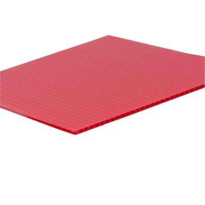 48 in. x 96 in. x 0.157 in. Red Corrugated Plastic Sheet (10-Pack)