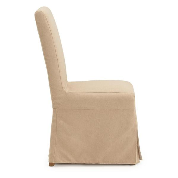 Slipcover Armless Dining Chairs Set