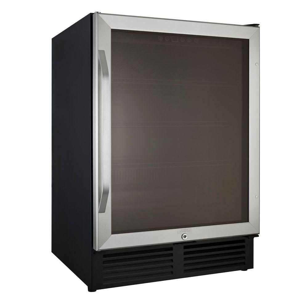 Avanti 50 Cu Ft Mini Refrigerator In Black With Stainless Steel