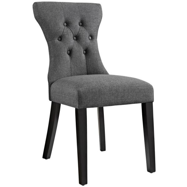 MODWAY Silhouette Gray Dining Side Chair