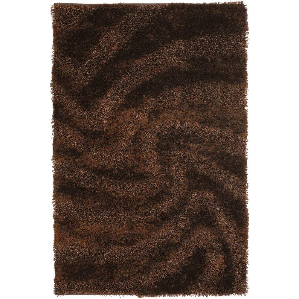 Chandra Fola Brown 5 ft. x 7 ft. 6 in. Indoor Area Rug