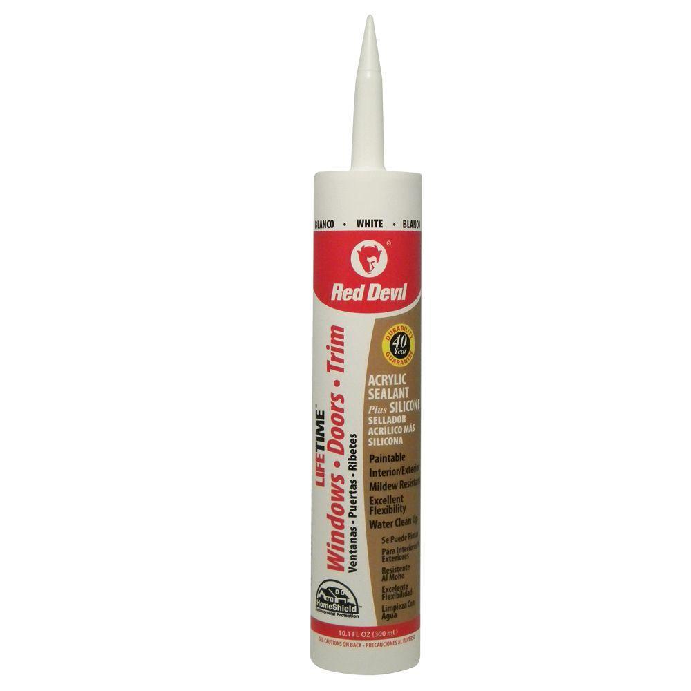 10.1 oz. Pro White Siliconized Acrylic Adhesive Sealant