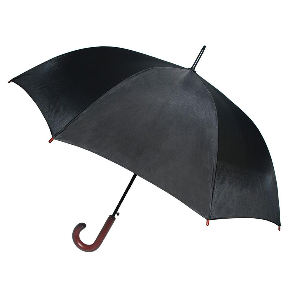Kingstate 56 in. Arc Doorman Umbrella in Black