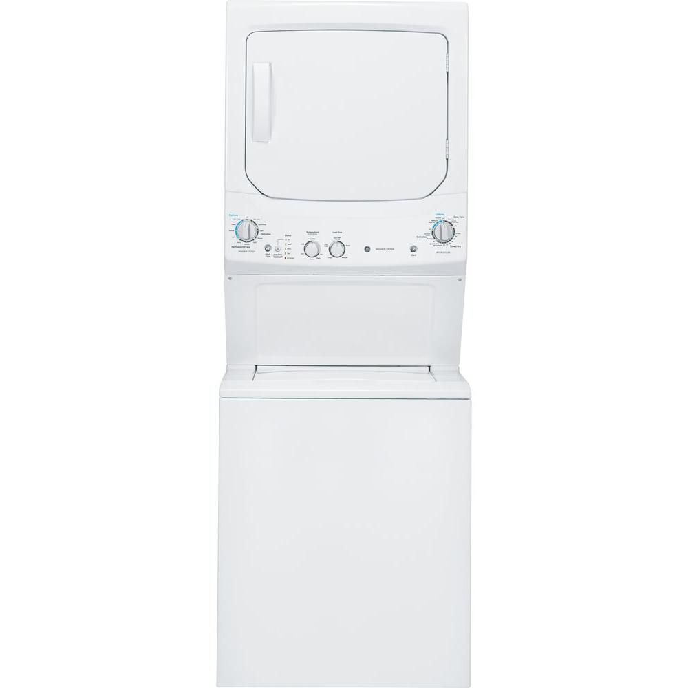 spacemaker washer and electric dryer in white