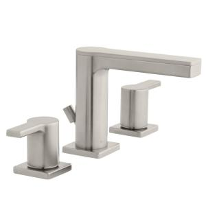 Glacier Bay Modern Contemporary 8 in. Widespread 2-Handle Low-Arc Faucet