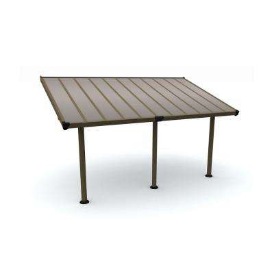 Gala 10 ft. x 18 ft. Brown/Bronze Patio Cover Awning
