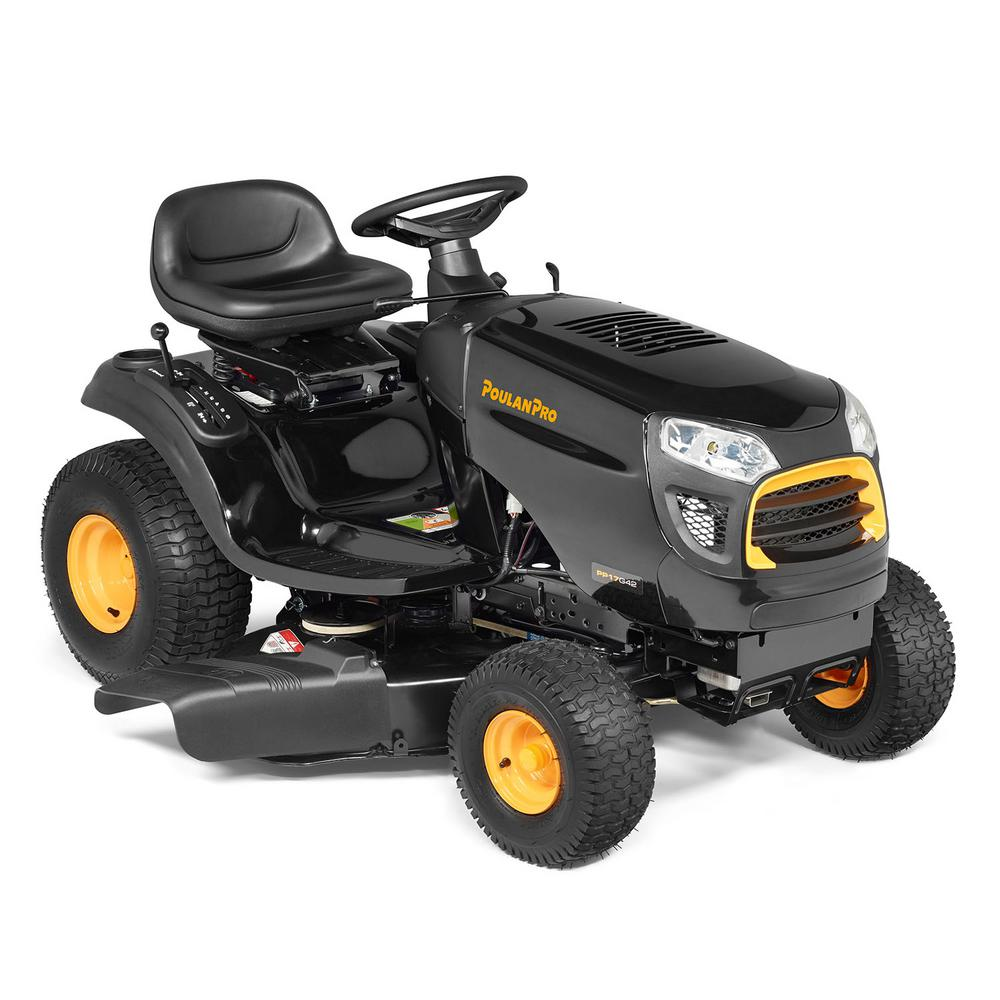 Poulan Pro PP17G42 42 in. 17 HP Gas Riding Mower