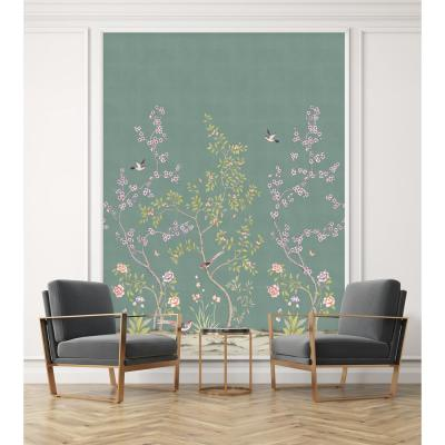 Garden Antiqued Jade Self-Adhesive, Removable Wallpaper Mural