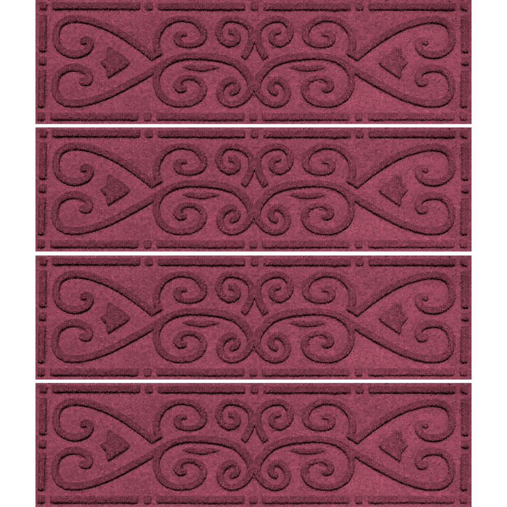 Bordeaux 8.5 in. x 30 in. Scroll Stair Tread Cover (Set