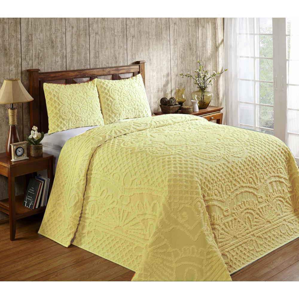 Trevor Yellow King Bedspread