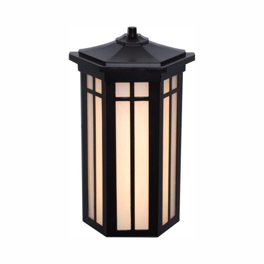 Home Decorators Collection Antique Bronze Outdoor LED Pocket Wall Light