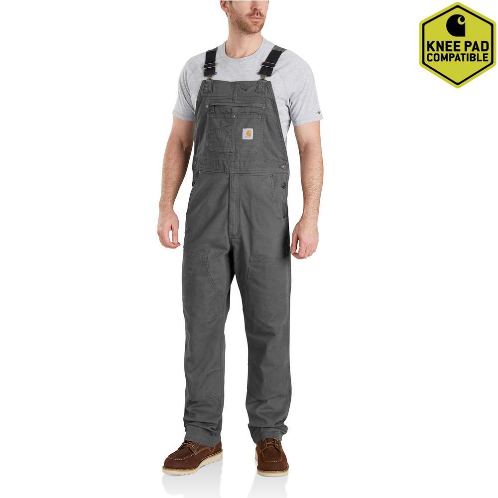 Men's 34X30 Gravel Cotton/Spandex Rugged Flex Rigby Unlined Bibs