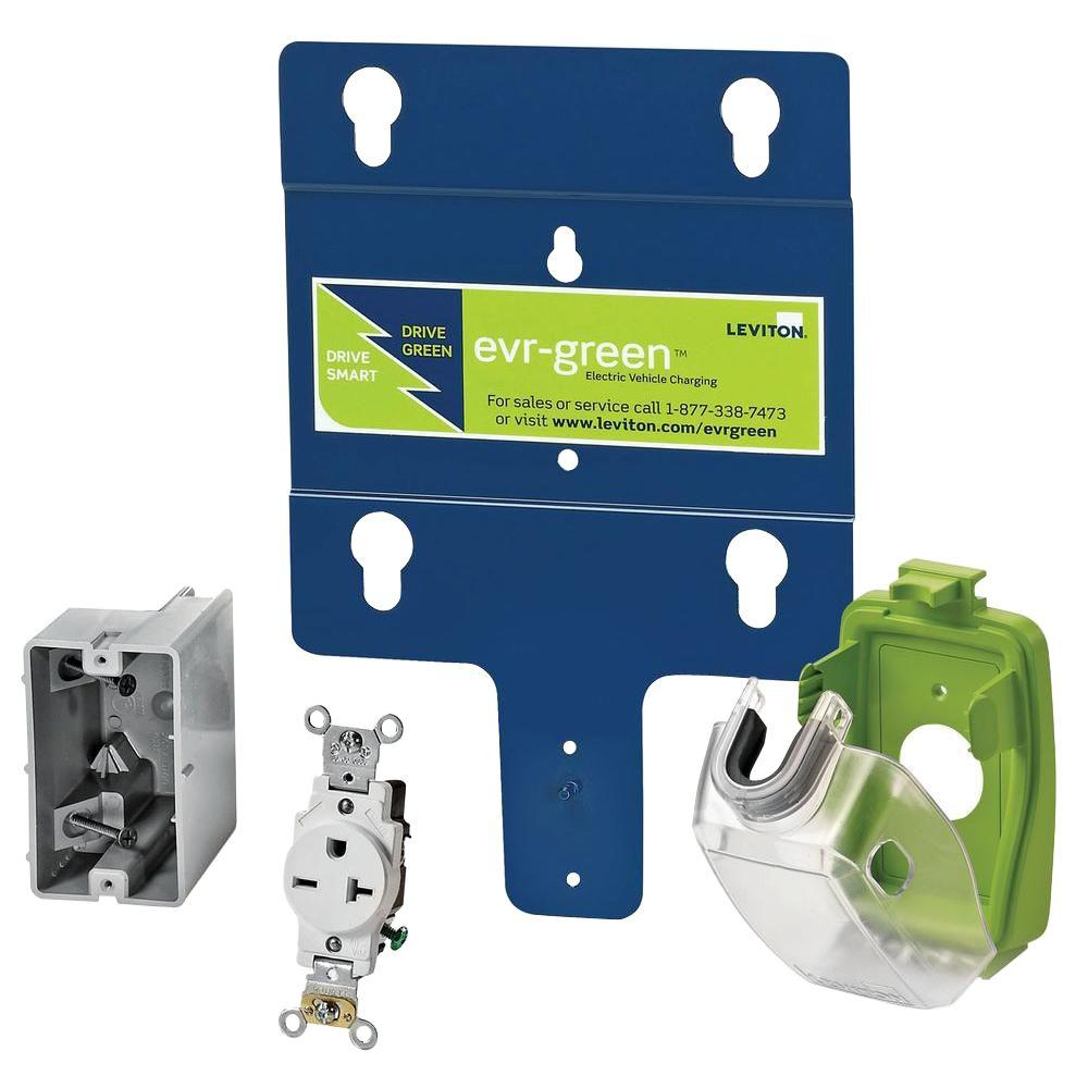 Leviton Evr-Green Pre-Wire Installation Kit with NEMA 6-20 Receptacle