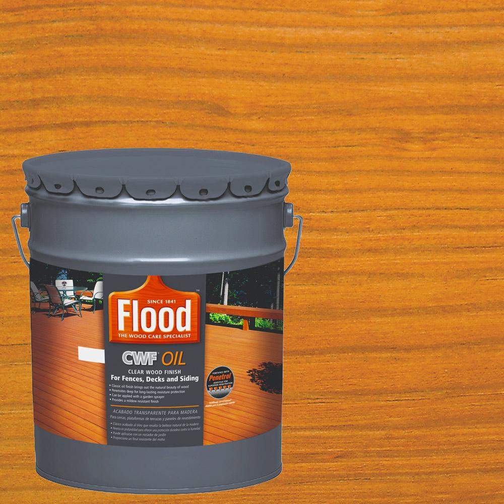 Flood 5 Gal. Clear CWF Oil Penetrating Exterior Wood Stain