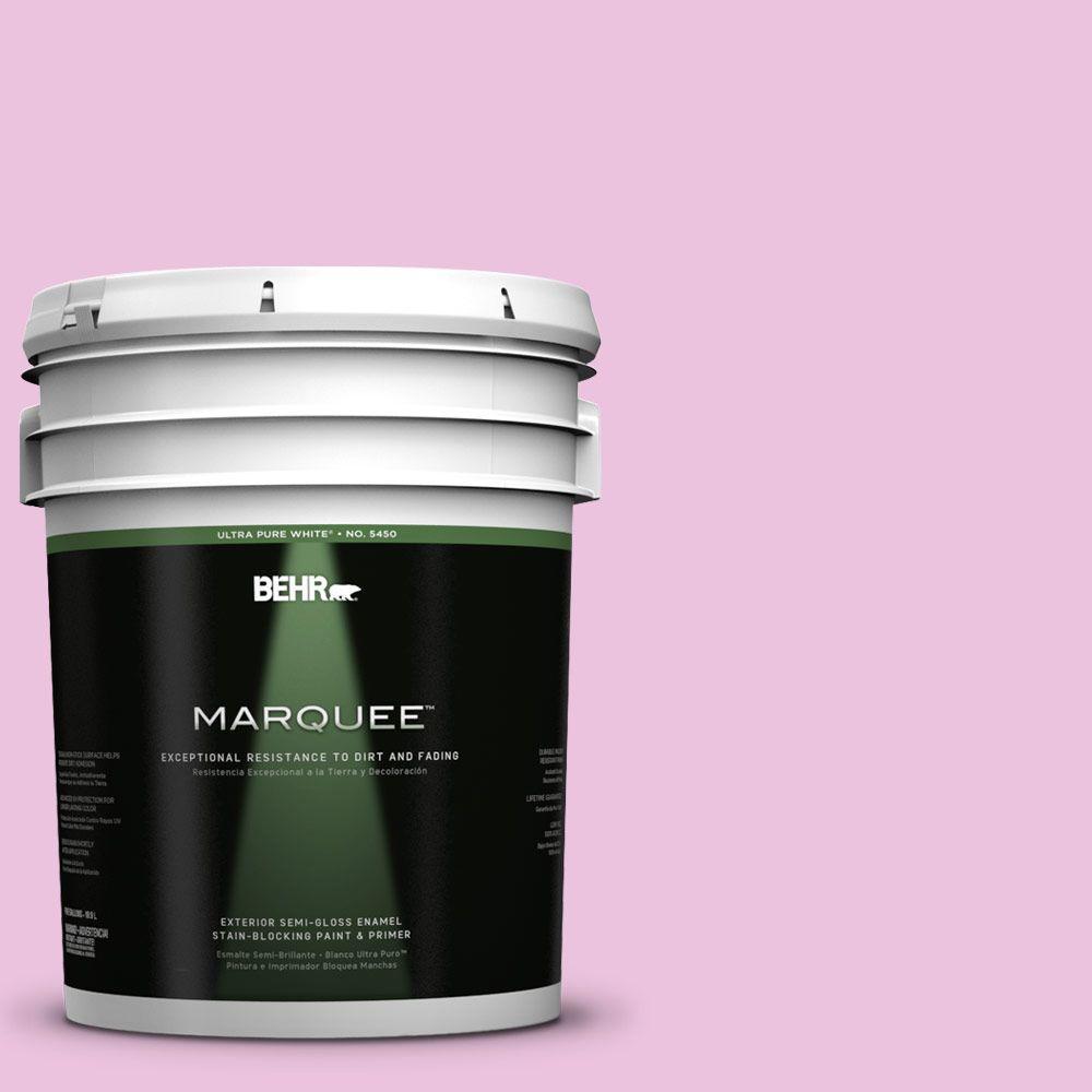 BEHR MARQUEE 5-gal. #680A-2 Sugar Sweet Semi-Gloss Enamel Exterior Paint