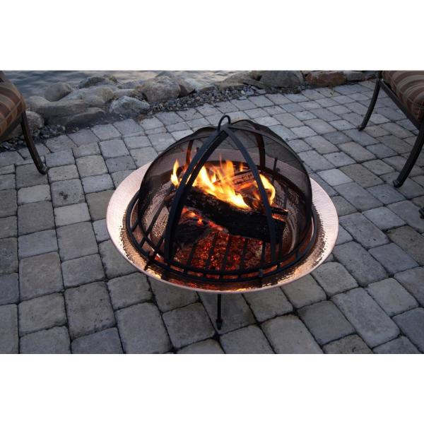 Good Directions 30 In Medium Polished Copper Fire Pit 771 The Home Depot