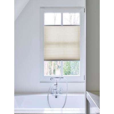 Cut-to-Width Beige Light Filtering Fabric Cordless 3/4 in. Cellular Shade - 22.5 in. W x 72 in. L