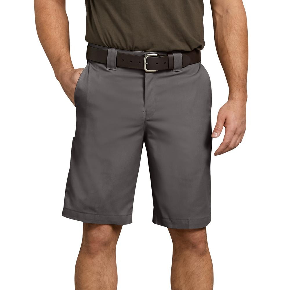 4dbb6c5a2b Dickies Men's Gravel Gray Flex 11 in. Relaxed Fit Work Short-WR852VG ...
