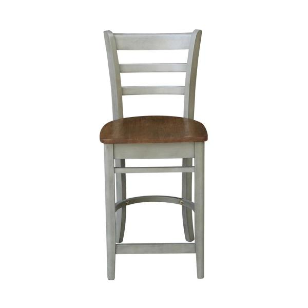 24 in. H Hickory/Stone Emily Counter Height Stool
