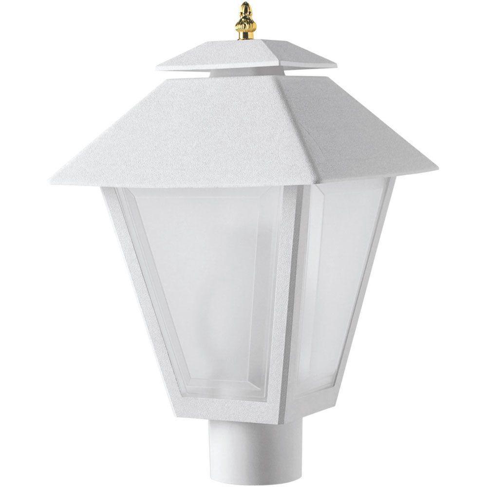 Newport Coastal Outdoor White Post Lantern
