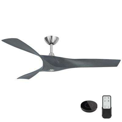 Wesley 52 in. Grey Ceiling Fan with Remote Control works with Google and Alexa