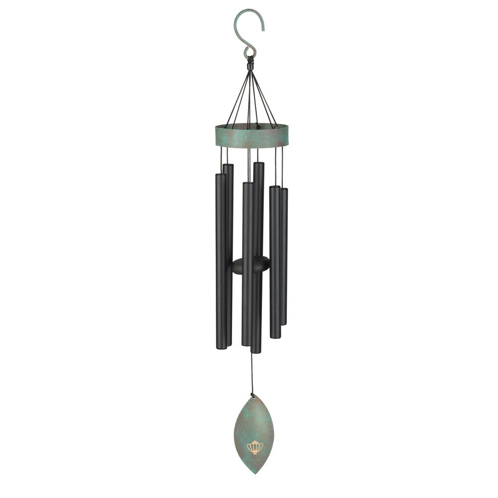 Precision-Tuned Patina Breeze 32 in. Black Wind Chime