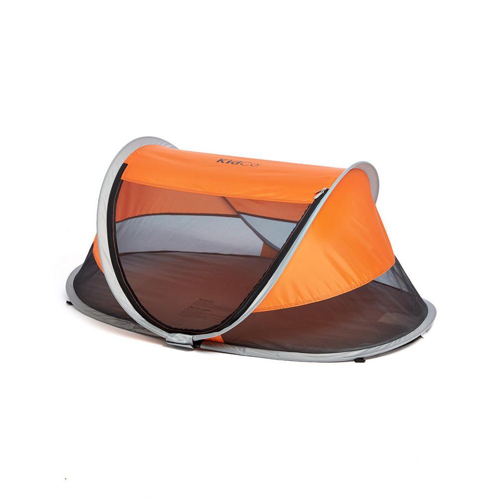 PeaPod Children's Travel Bed in Tangerine