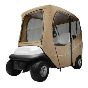 Click here to buy Classic Accessories Deluxe Golf Car Enclosure Light Khaki Short Roof by Classic Accessories.