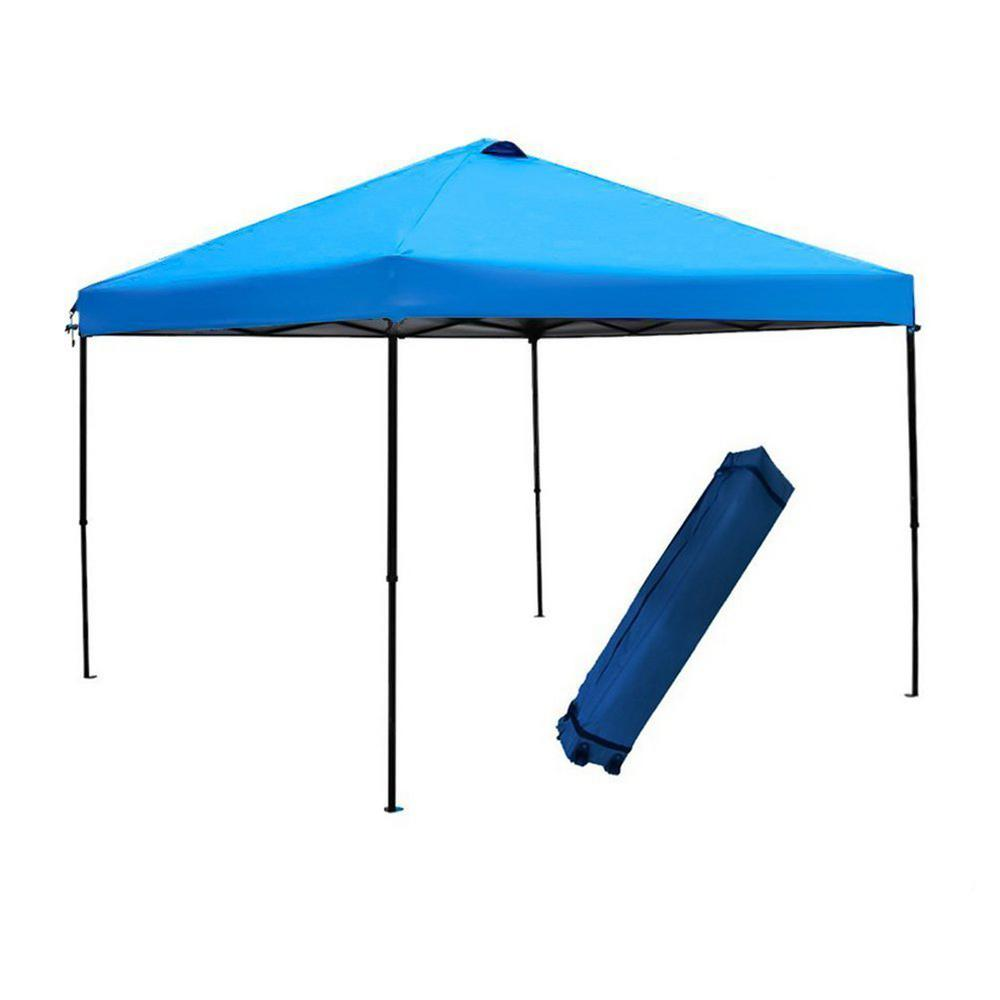 Abba Patio 10 ft. x 10 ft. Blue Pop Up Outdoor Canopy Tent