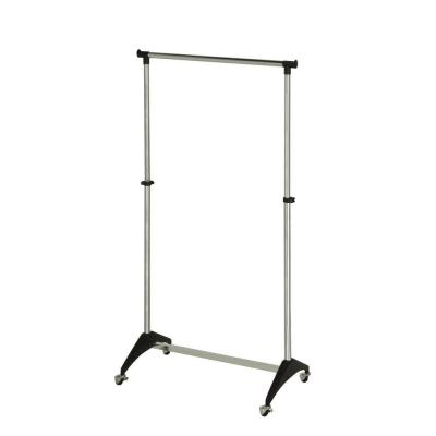 Black/Chrome Steel Adjustable Clothes Rack (34 in. W x 67 in. H)