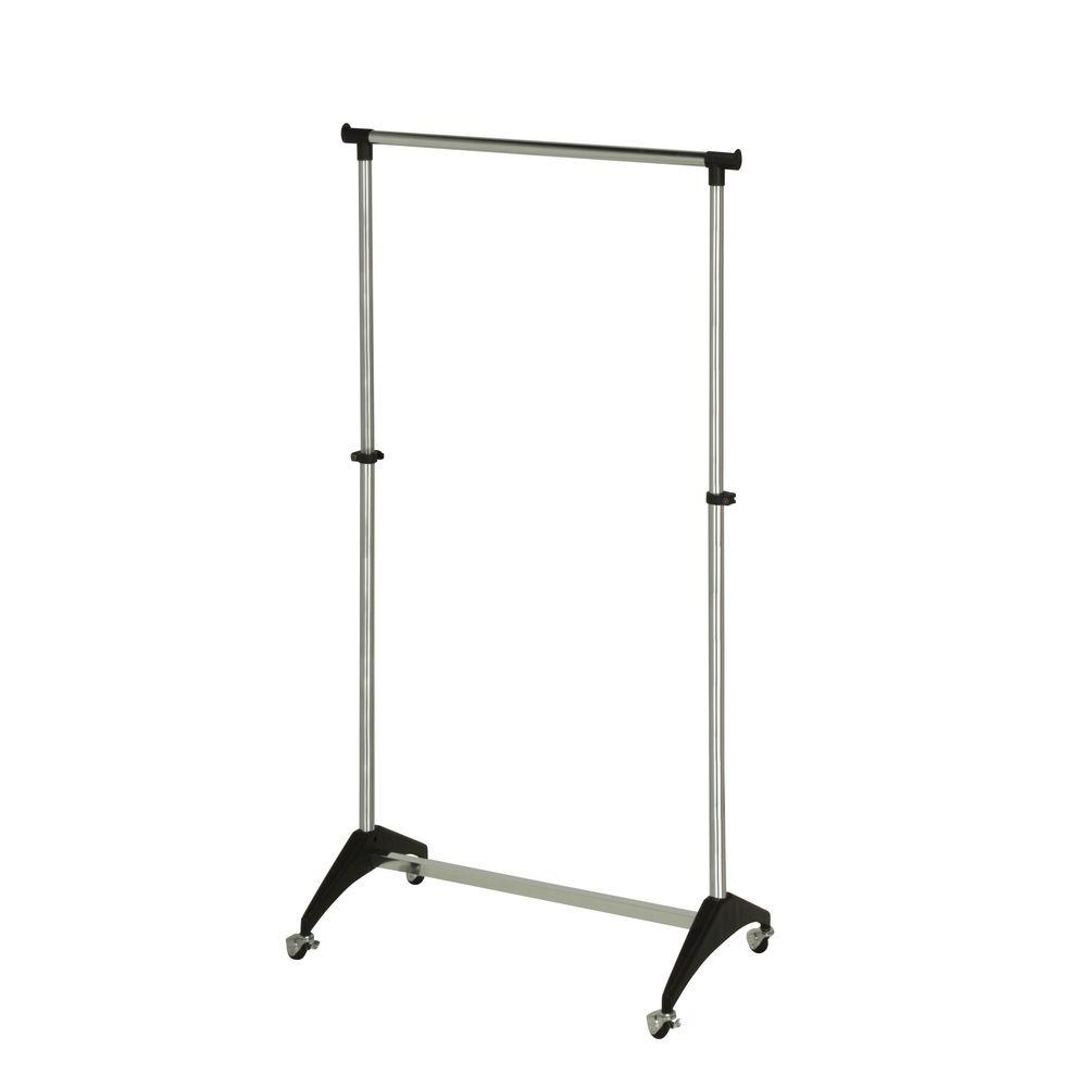 33.86 in. x 66.93 in. Modern Adjustable Steel Garment Rack