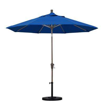9 ft. Aluminum Auto Tilt Patio Umbrella in Pacific Blue Pacifica