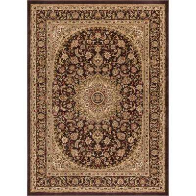 Timeless Aviva Brown 3 ft. 11 in. x 5 ft. 3 in. Traditional Soft Oriental Area Rug