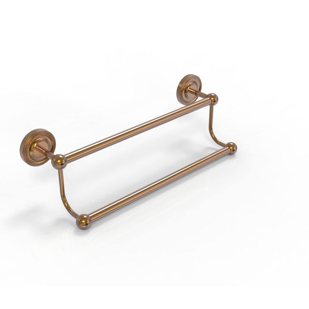 Prestige Regal Collection 24 in. Double Towel Bar in Brushed Bronze