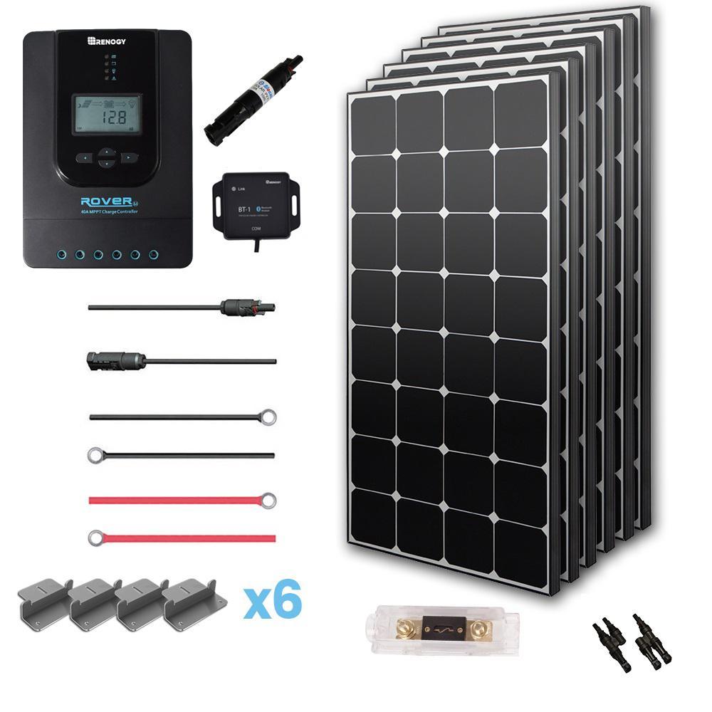 600-Watt 24-Volt Monocrystalline Off-Grid Eclipse Solar Premium Kit